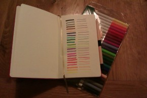 New note book and felt tips
